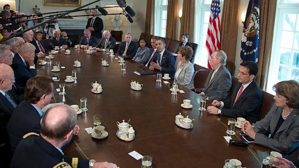 AP barack obama conogress meeting syria thg 130903 16x9 608 Obama Confident Congress Will Approve Syria Strike