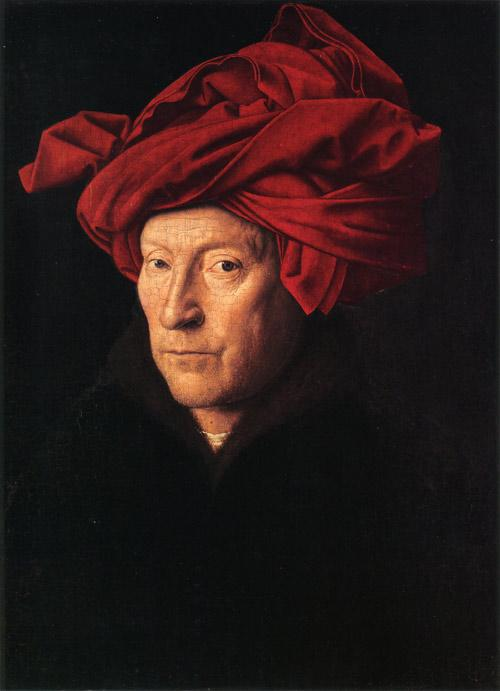 """Portrait of a Man in a Turban"" by Jan van Eyck."