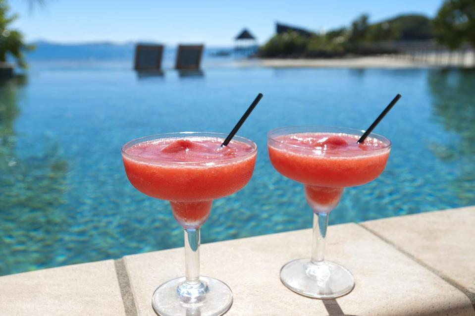 """<p>Red soda doesn't have to be the only drink on Juneteenth. This strawberry daiquiri can be made in just a couple of minutes with only four ingredients.</p> <p><a href=""""https://www.thedailymeal.com/best-recipes/strawberry-daiquiri-cocktail?referrer=yahoo&category=beauty_food&include_utm=1&utm_medium=referral&utm_source=yahoo&utm_campaign=feed"""" rel=""""nofollow noopener"""" target=""""_blank"""" data-ylk=""""slk:For the Strawberry Daiquiri recipe, click here."""" class=""""link rapid-noclick-resp"""">For the Strawberry Daiquiri recipe, click here.</a></p>"""