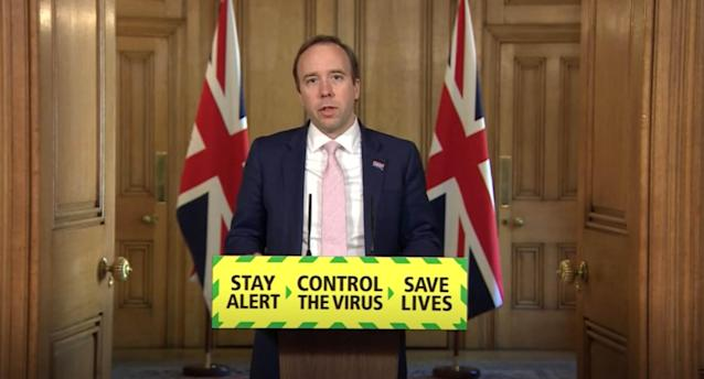 Health secretary Matt Hancock said the £600 million Infection Control Fund will be used to reduce infections in care homes and save lives. Photo: Getty