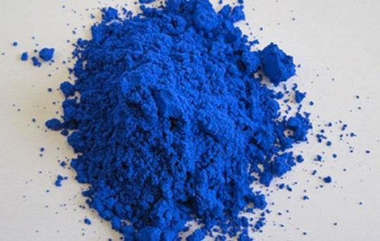 The rich, new blue pigment scientists have found. (Photo: Oregon State University)