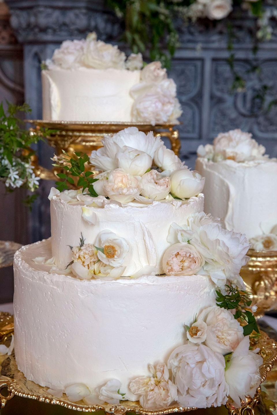 The wedding cake by Claire Ptak of London-based bakery Violet Cakes.