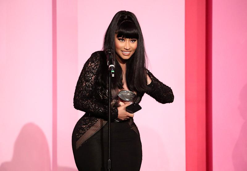 Nicki Minaj accepts the Gamechanger Award onstage during Billboard Women In Music 2019, presented by YouTube Music, on December 12, 2019 in Los Angeles, California. (Photo by Rich Fury/Getty Images for Billboard)