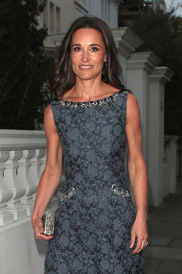 Pippa Middleton wore an Erdem dress at the ParaSnow Ball. (Photo: Getty Images)