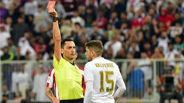 Valverde red card Real Madrid