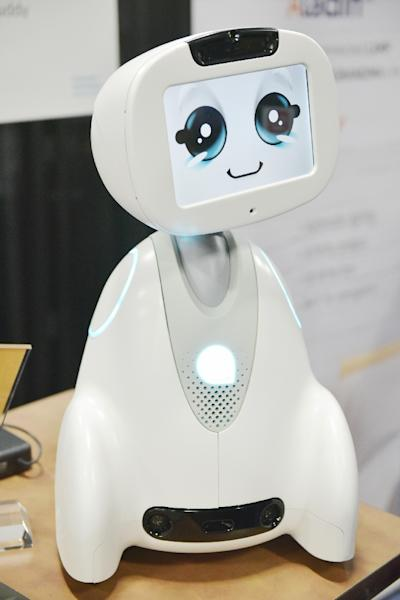 Buddy the companion robot by Blue Frog Robotics is seen on display during the CES Unveiled preview event at the Mandalay Bay Convention Center during CES 2018 in Las Vegas on January 7, 2018 (AFP Photo/MANDEL NGAN)