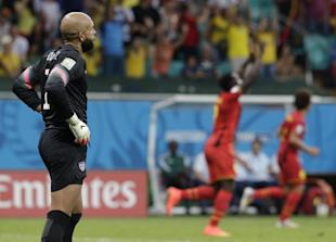 Tim Howard's record effort wasn't enough to save the U.S. on Tuesday. (AP)