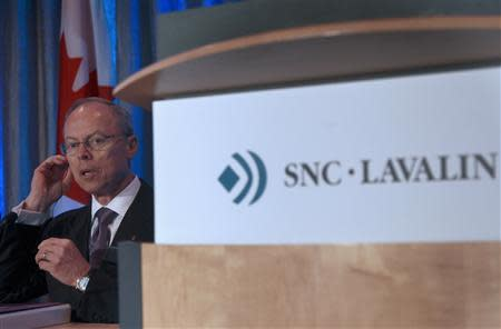 Robert G. Card, president and chief executive officer of SNC-Lavalin arrives for their AGM in Montreal