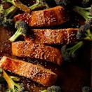 <p>This quick Asian salmon recipe uses the sauce for both glazing the salmon and tossing with the broccoli. Serve over rice noodles or brown rice tossed with sesame oil and scallions.</p>
