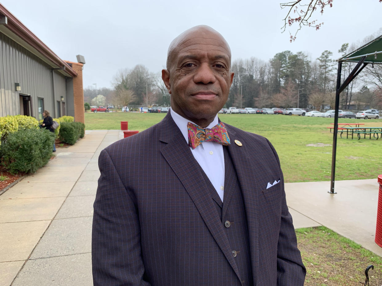 Mecklenburg County Sheriff Garry McFadden prompted backlash from federal immigration officials by terminating a longstanding partnership between his office and ICE. (Photo: Caitlin Dickson/Yahoo News)