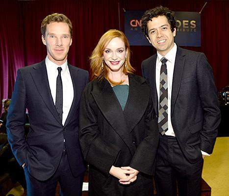 Cheese! Christina Hendricks and Geoffrey Arend posed with stars like Benedict Cumberbatch at the 2014 CNN Heroes awards.