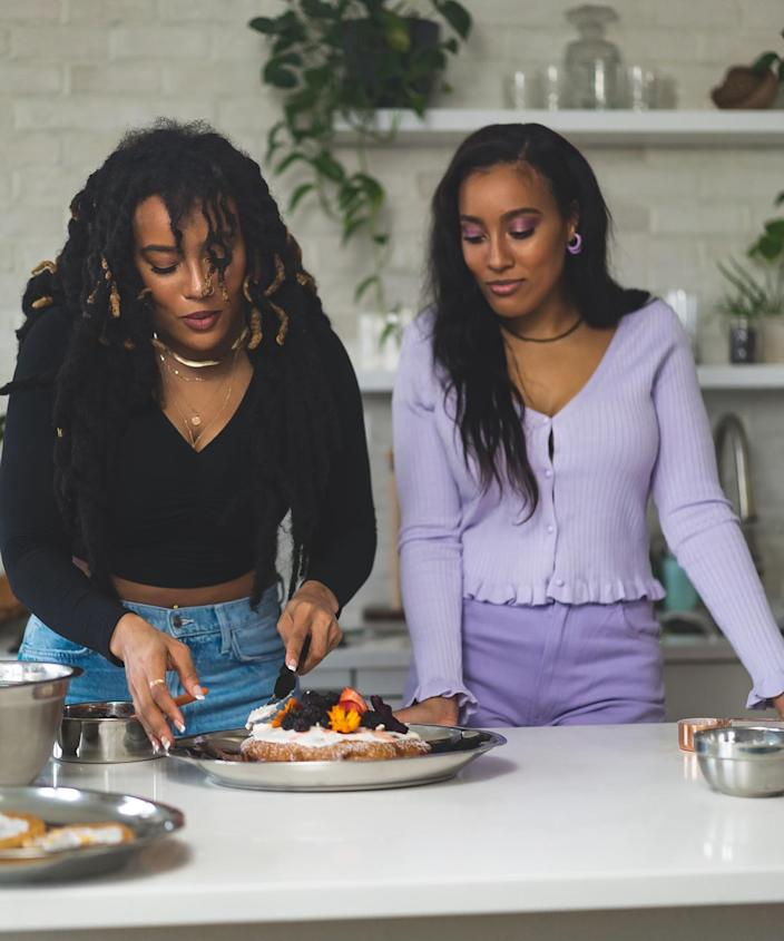 It is crucial to taste for quality control. Here we have the twins sampling their goods.  (Twins That Cook)