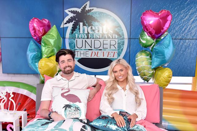 Molly-Mae Hague from Love Island 2019 visits the Heat Radio Studio's for 'Heat under the Duvet' with Jordan Lee on August 12, 2019 in London, England. Photo: HGL/GC Images