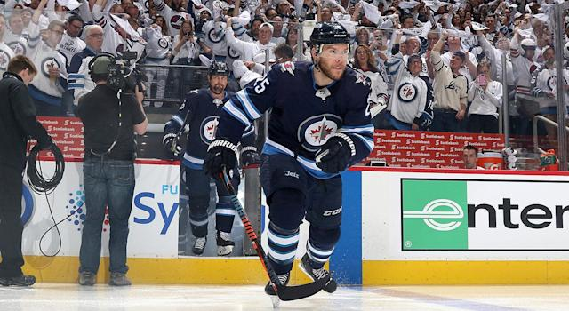 Paul Stastny has been a revelation for the Jets since being acquired from the Blues. (Photo by Jonathan Kozub/NHLI via Getty Images)