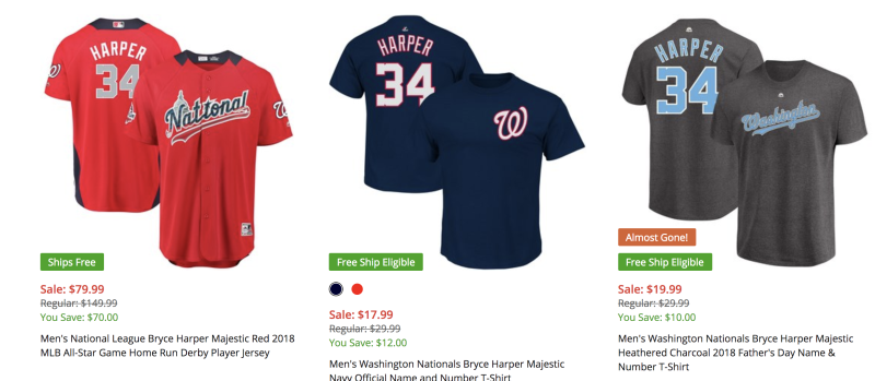 new products acf20 292c6 How much are Bryce Harper jerseys and where can you get ...