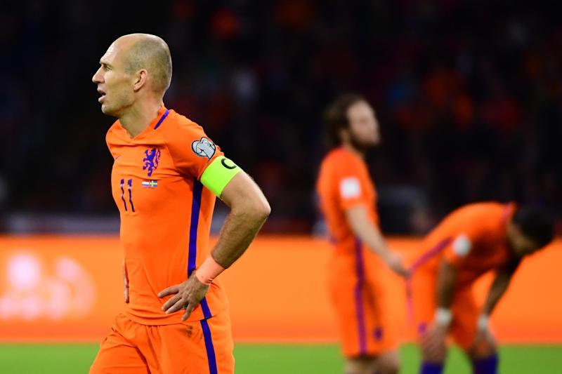 Heartbreak | Arjen Robben scored twice to secure a 2-0 win over Sweden: AFP/Getty Images