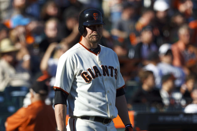 Aubrey Huff in 2012. (Photo by Jason O. Watson/Getty Images)