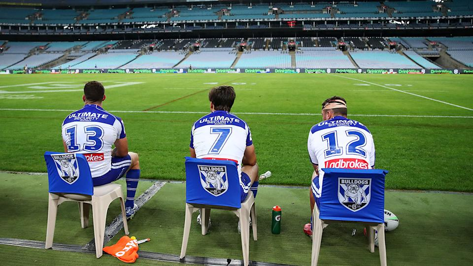 ANZ Stadium, pictured here without fans for a Bulldogs match in Round 2.