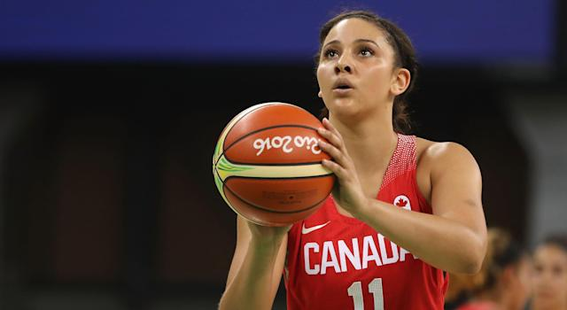 Natalie Achonwa currently spends half the year playing professionally in Seoul, South Korea and the other half in Indiana playing for the WNBA's Indiana Fever.