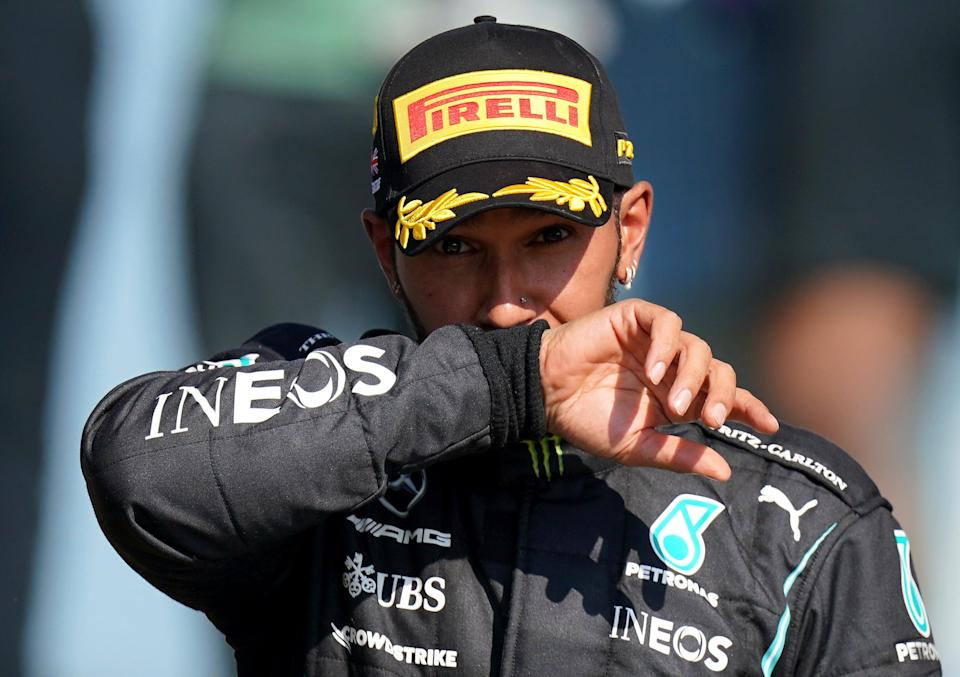 Lewis Hamilton spoke of being 'devastated' following the incident (Tim Goode/PA) (PA Wire)