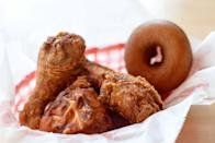 """<p><a href=""""https://www.tripadvisor.com/Restaurant_Review-g60795-d2387198-Reviews-Federal_Donuts-Philadelphia_Pennsylvania.html"""" rel=""""nofollow noopener"""" target=""""_blank"""" data-ylk=""""slk:Federal Donuts"""" class=""""link rapid-noclick-resp"""">Federal Donuts</a>, Philadelphia</p><p>Easily manages to live up to all the hype. The <span class=""""entity tip_taste_match"""">fancy donuts</span> are inventive, the hot fresh are always right out of the fryer, and the <span class=""""entity tip_taste_match"""">chicken</span> is unbelievable. Impossible to leave unhappy.<span class=""""redactor-invisible-space""""> - Foursquare user <a href=""""https://foursquare.com/user/39843459"""" rel=""""nofollow noopener"""" target=""""_blank"""" data-ylk=""""slk:Jack LaViolette"""" class=""""link rapid-noclick-resp"""">Jack LaViolette</a></span></p>"""