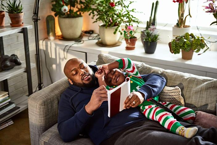 <p>This activity is as special for the kids as it is for Dad. Have Dad pick out his favorite story and take turns reading it aloud with the kids. It's the perfect pre-bedtime activity after a day of Father's Day fun. </p>