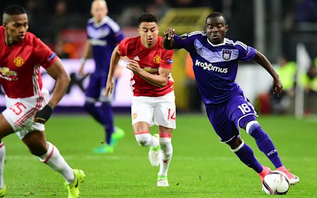 <span>Frank Acheampong catches the eye</span> <span>Credit: AFP </span>