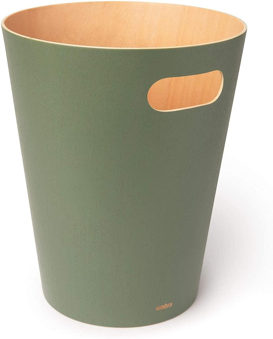 <p>This <span>Umbra Wooden Wastebasket</span> ($28) is multifunctional, so you can use it however you need.</p>