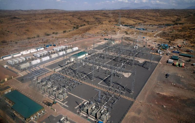 The power substation at the Lake Turkana Wind Power project.