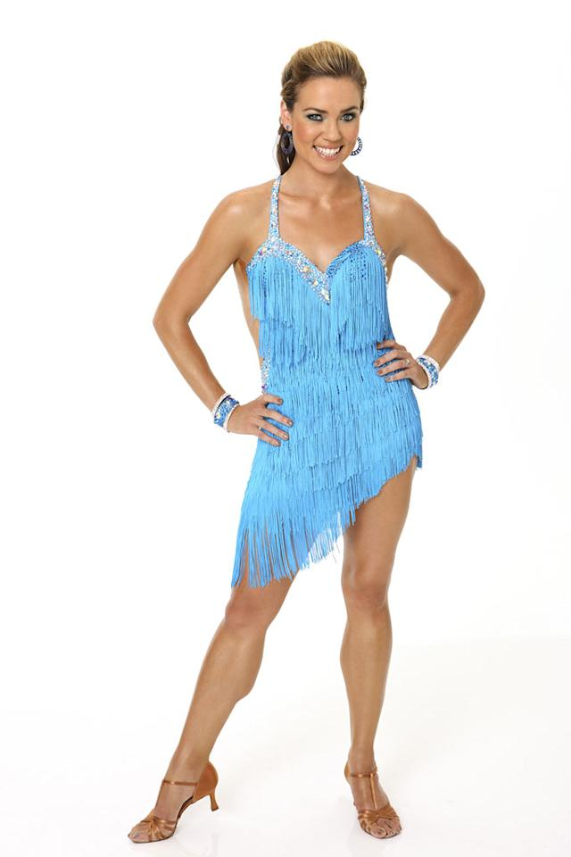 "Olympic swimming gold medalist Natalie Coughlin competes in season 9 of ""Dancing with the Stars."""