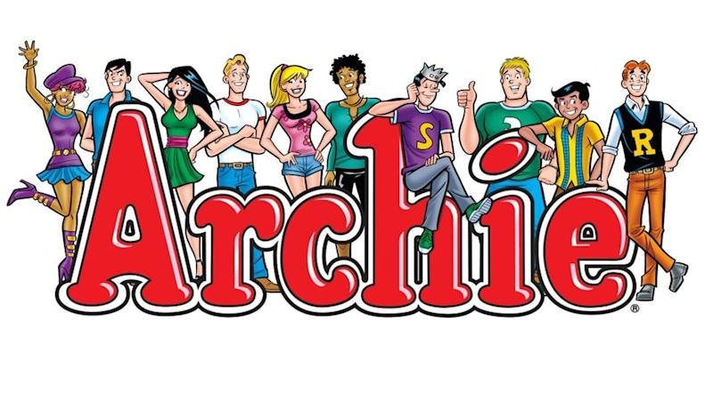 This comic image released by Archie Comics shows characters from the Archie's comic book series. Archie Comics announced Thursday, June 6, 2013, that Warner Bros. will produce a live-action film based on the comic's characters, including Archie, Betty, Veronica and Jughead. It will be the first feature film for the 72-year-old comic. (AP Photo/Archie Comics)