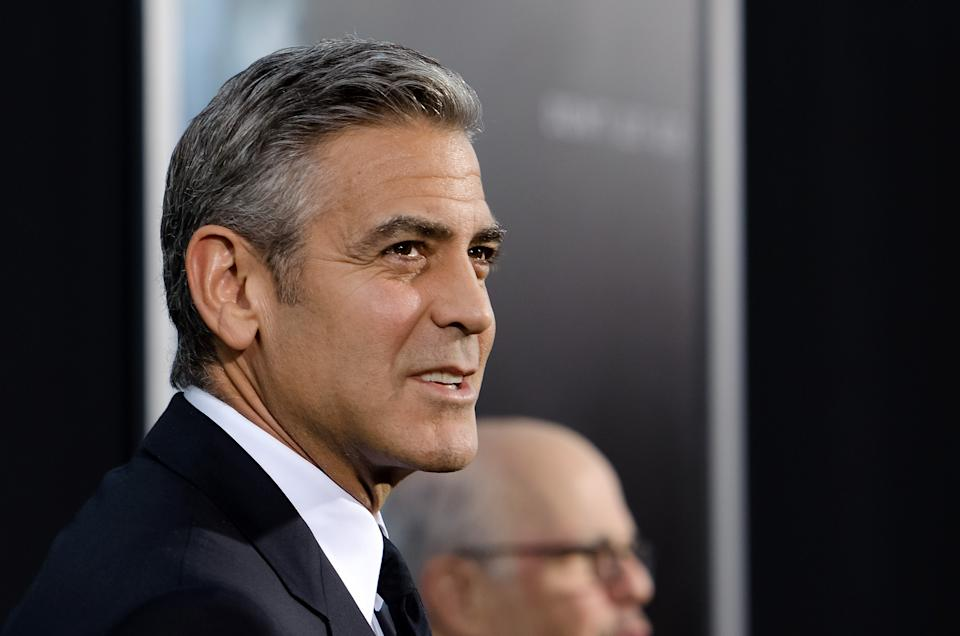 """NEW YORK, NY - OCTOBER 01:  George Clooney attends the """"Gravity"""" New York premiere at AMC Lincoln Square Theater on October 1, 2013 in New York City.  (Photo by D Dipasupil/FilmMagic)"""