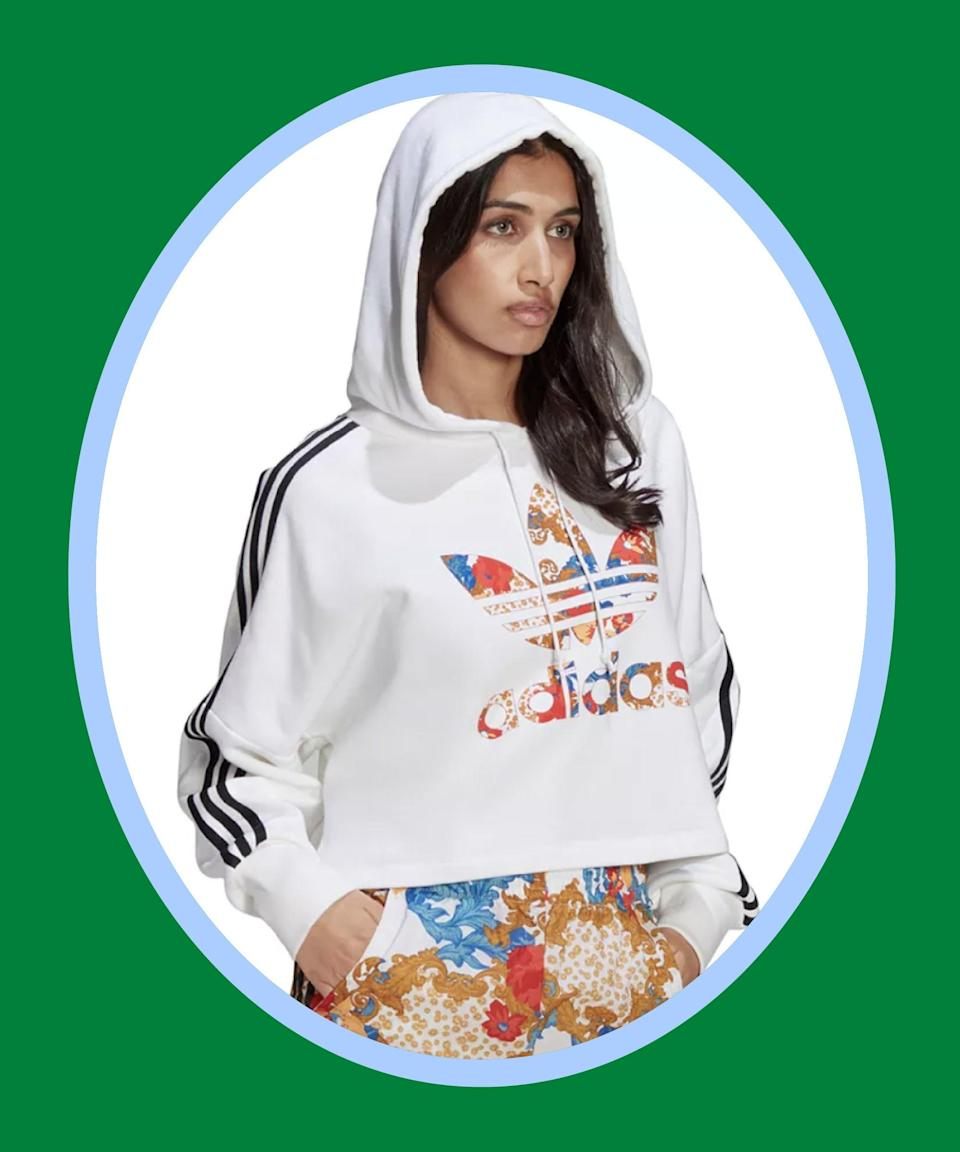 """<br><br><strong>Adidas</strong> Printed Cropped Hooded Sweatshirt, $, available at <a href=""""https://go.skimresources.com/?id=30283X879131&url=https%3A%2F%2Fwww.macys.com%2Fshop%2Fproduct%2Fadidas-originals-womens-printed-cropped-hooded-sweatshirt%3FID%3D11528056%26tdp%3Dcm_app%7EzMCOM-NAVAPP%7Excm_zone%7EzPDP_ZONE_B%7Excm_choiceId%7EzcidM06MNK-04c66da7-bb5d-494e-814f-fe3620e238e6%2540HB1%2540Customers%252Balso%252Bloved%25245344%252411528056%7Excm_pos%7EzPos4%7Excm_srcCatID%7Ez255"""" rel=""""nofollow noopener"""" target=""""_blank"""" data-ylk=""""slk:Macy's"""" class=""""link rapid-noclick-resp"""">Macy's</a>"""