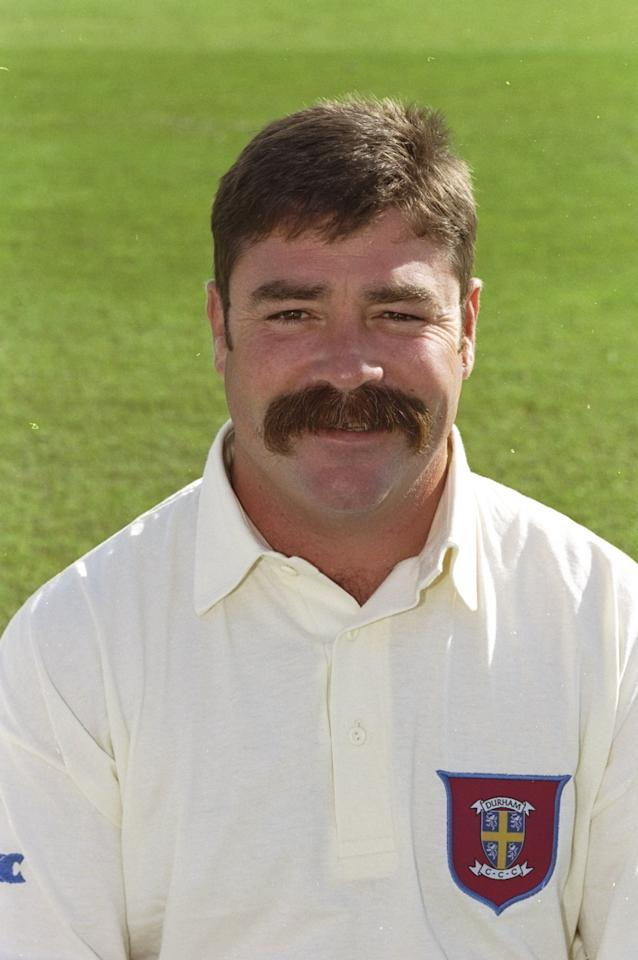 Apr 1998:  Portrait of David Boon of Durham CCC at the County Ground in Chester-le-Street, England. \ Mandatory Credit: Allsport UK /Allsport