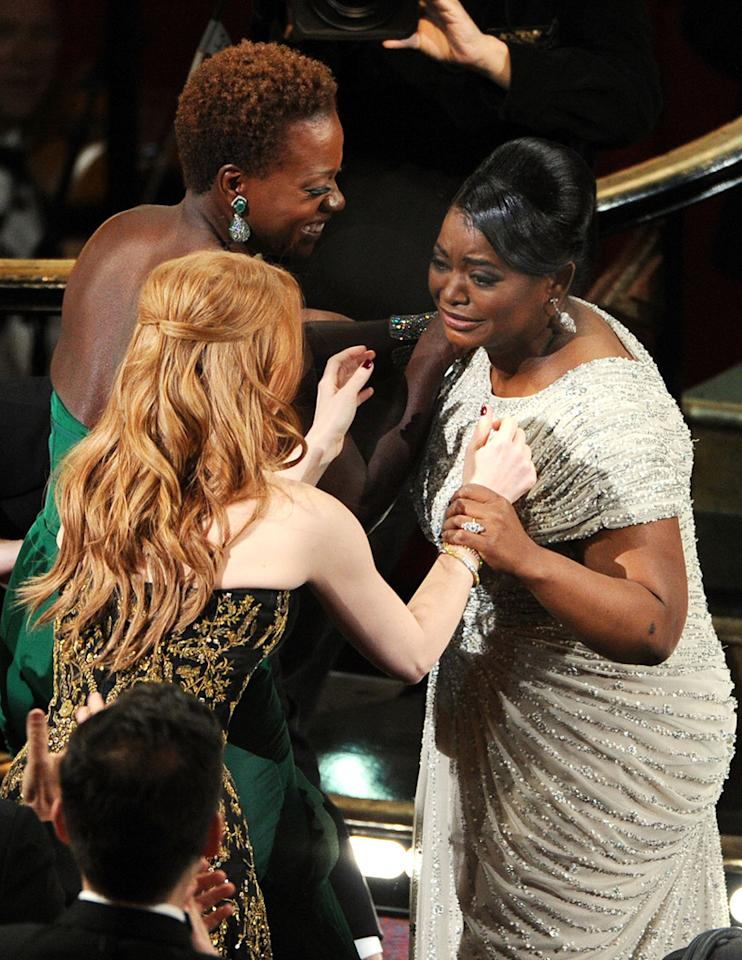 Octavia Spencer on stage during the 84th Annual Academy Awards in Hollywood, CA.