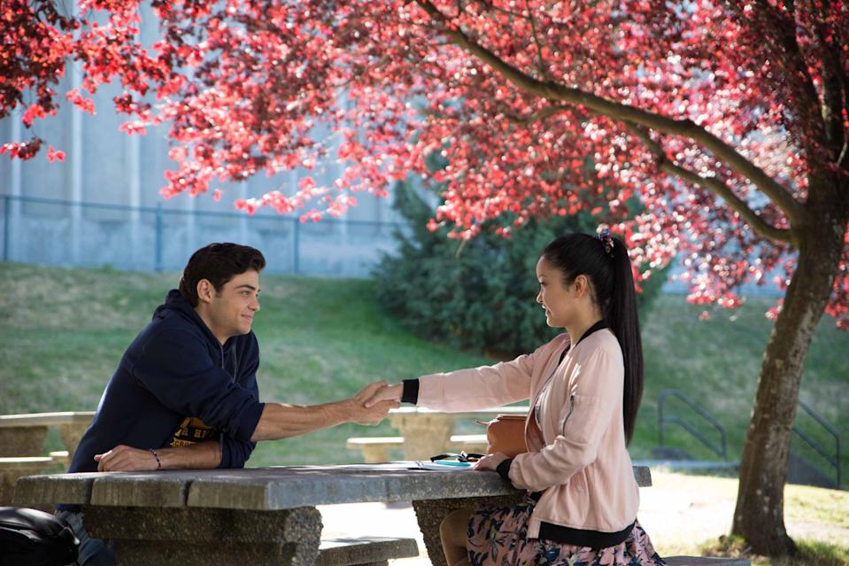 """<p>When Lara Jean's secret love letters get out, she's terrified of the fallout. Enter Peter Kavinsky, one of the accidental recipients, who proposes a deal: a fake relationship to make his ex jealous and hide the truth about her letters. Of course, real feelings soon emerge, making everything much more complicated than either of them planned.</p> <p><a href=""""http://www.netflix.com/watch/80203147"""" class=""""link rapid-noclick-resp"""" rel=""""nofollow noopener"""" target=""""_blank"""" data-ylk=""""slk:Watch To All the Boys I've Loved Before on Netflix now."""">Watch <strong>To All the Boys I've Loved Before</strong> on Netflix now.</a></p>"""