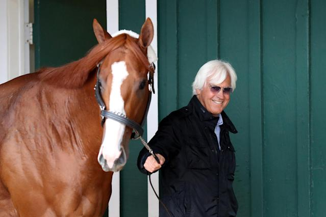 "Famed trainer Bob Baffert said he believes the Kentucky Derby may be pushed back from May to ""June or September"" due to the coronavirus outbreak. (Rob Carr/Getty Images)"