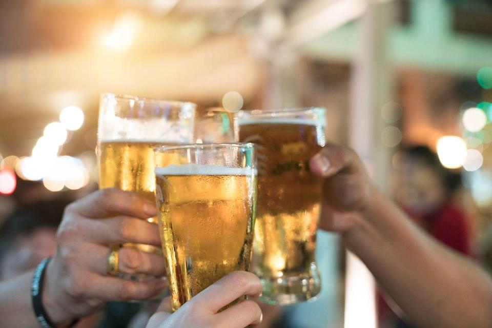 """<p>Avoid alcohol at least three hours before bed, recommends <a href=""""https://thesleepdoctor.com/about/"""" rel=""""nofollow noopener"""" target=""""_blank"""" data-ylk=""""slk:Michael Breus, Ph.D.,"""" class=""""link rapid-noclick-resp"""">Michael Breus, Ph.D.,</a> author of <em>The Sleep Doctor's Diet Plan</em>. Although booze can make you feel sleepy and aid in falling asleep, ultimately it disrupts the restorative sleep you need for better workout performance.</p>"""