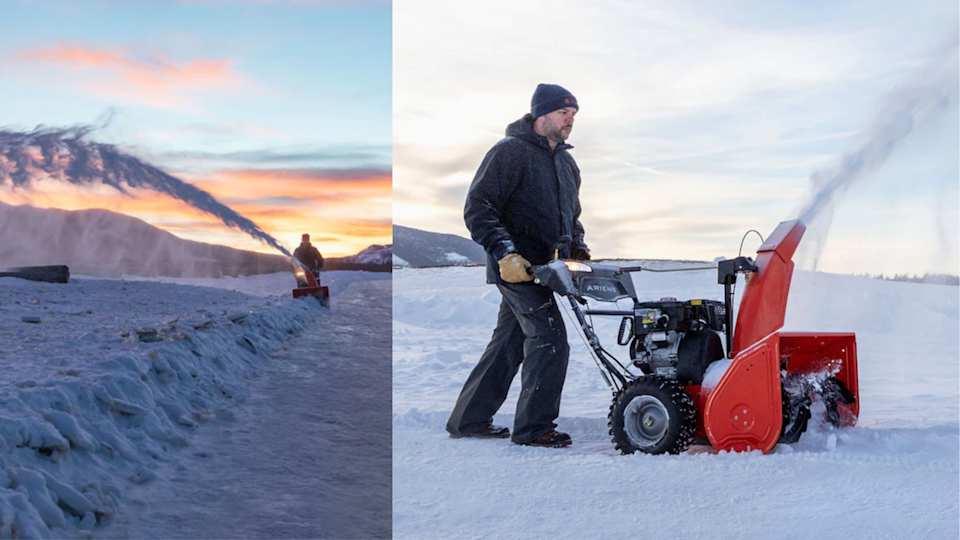 The Ariens has extra force that powers forward the wheels, which means that it will dive through packed-down snow to clear a path with ease.
