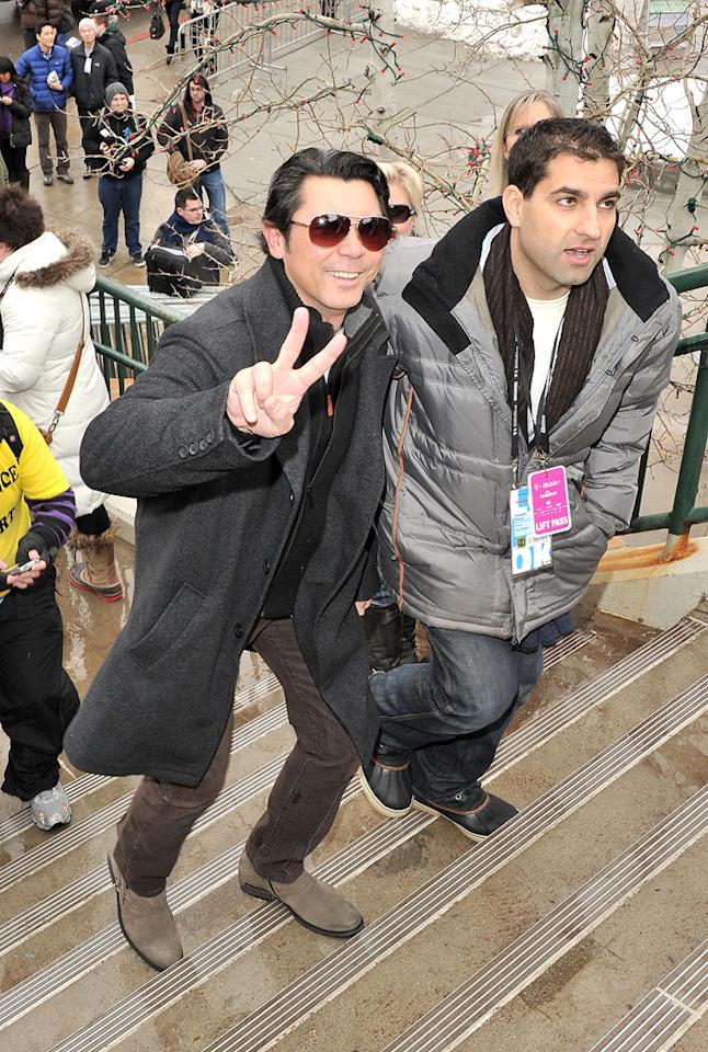 Lou Diamond Phillips is seen out and about during the 2012 Sundance Film Festival in Park City, Utah on January 22, 2012.