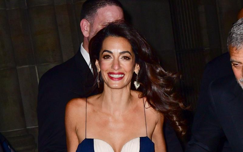 Mrs Clooney warned: 'The US president has given such regimes a green light and labelled the press in this country the enemy of the people' - GC Images