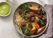 """<p>Say goodbye to wasting food when it comes to making the lentil broccoli falafel bowl. Every ingredient gets used to its fullest capacity — yes, even the cilantro stems. </p><p><em><a href=""""https://www.womansday.com/food-recipes/a31001793/lentil-broccoli-falafel-bowls-with-jalapeno-herb-tahini-recipe/"""" rel=""""nofollow noopener"""" target=""""_blank"""" data-ylk=""""slk:Get the Lentil Broccoli Falafel Bowls with Jalapeño-Herb Tahini recipe."""" class=""""link rapid-noclick-resp"""">Get the Lentil Broccoli Falafel Bowls with Jalapeño-Herb Tahini recipe.</a></em></p>"""