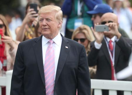 FILE PHOTO: U.S. President Trump attends the 2019 White House Easter Egg Roll in Washington