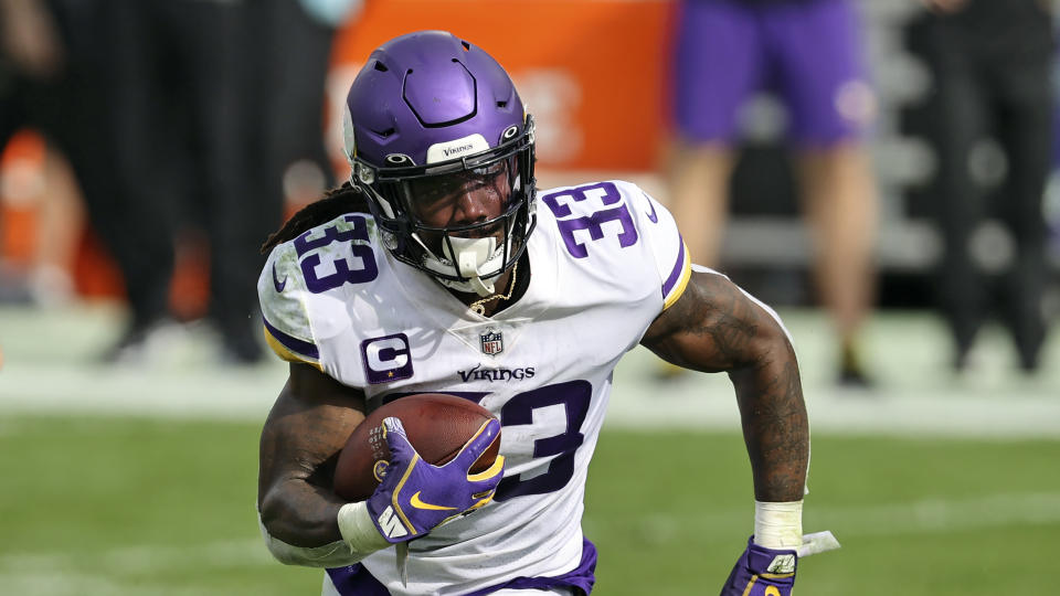 Minnesota Vikings running back Dalvin Cook's father James died this week. (AP Photo/Mark LoMoglio)