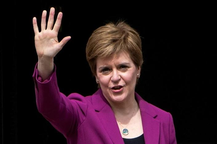 """Sturgeon said in her victory speech that Westminster now has """"no democratic justification"""" to deny a second independence referendum."""