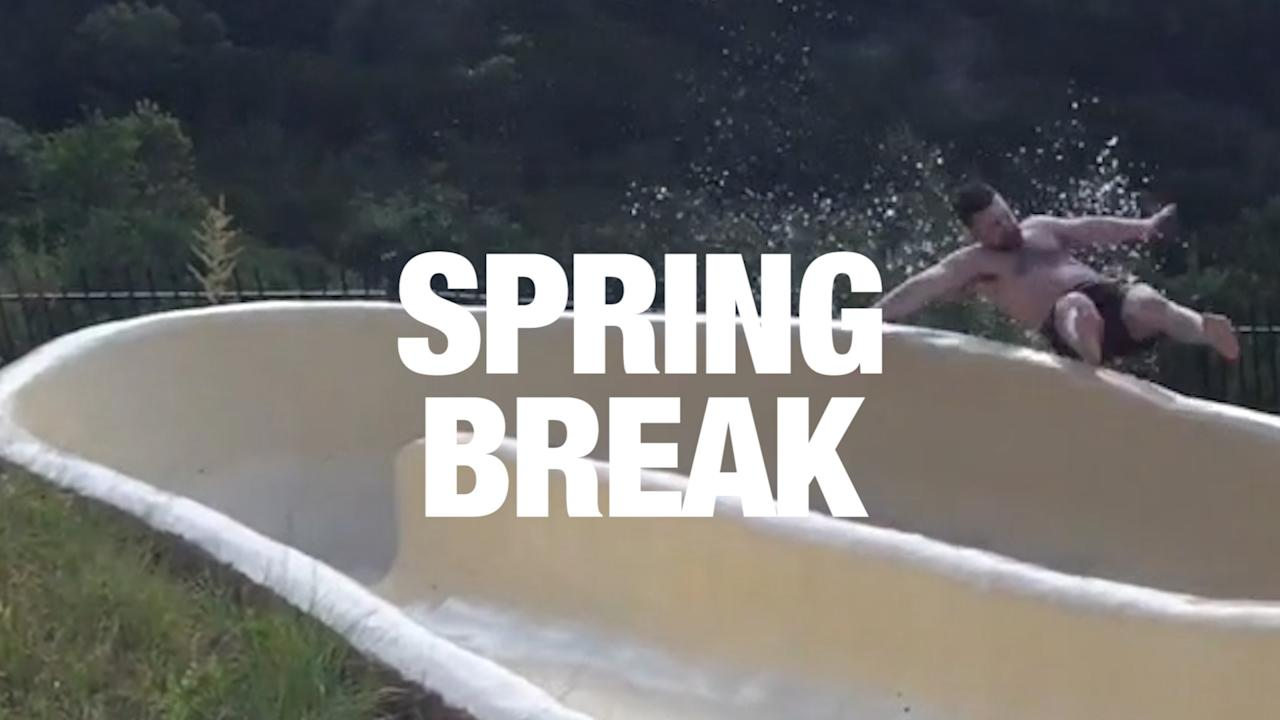 <p>Don't break an arm this spring.</p><p>We have compiled the best videos that perfectly embody the essence of spring break; freedom, surfing, golden hour, broken limbs. What will you break this spring? Credit: Various via Storyful</p>