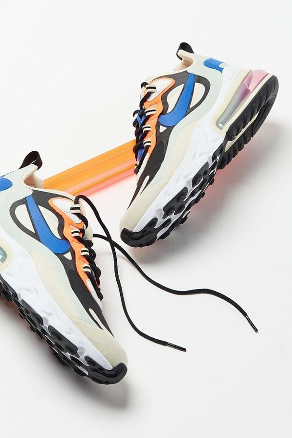 "<p><a href=""https://www.popsugar.com/buy/Nike-Air-Max-270-React-Sneakers-563801?p_name=Nike%20Air%20Max%20270%20React%20Sneakers&retailer=urbanoutfitters.com&pid=563801&price=160&evar1=fab%3Aus&evar9=44311634&evar98=https%3A%2F%2Fwww.popsugar.com%2Ffashion%2Fphoto-gallery%2F44311634%2Fimage%2F46921956%2FNike-Air-Max-270-React-Sneakers&list1=shopping%2Cshoes%2Csneakers%2Choliday%2Cgift%20guide%2Ceditors%20pick%2Cfashion%20gifts%2Cgifts%20for%20women&prop13=api&pdata=1"" class=""link rapid-noclick-resp"" rel=""nofollow noopener"" target=""_blank"" data-ylk=""slk:Nike Air Max 270 React Sneakers"">Nike Air Max 270 React Sneakers</a> ($160)</p> <p>""Every single time I have worn these Nike Air Max 270 Sneakers, someone has said something to the effect of 'sick shoes' or 'dude, where did you get these?' I get complements even when the rest of my outfit is straight-up boring. That's how I know they're good - that and they go with jeans and sweats, and feel like I'm walking on, well, air."" - Hannah Weil McKinley, director, Fashion and Shop</p>"