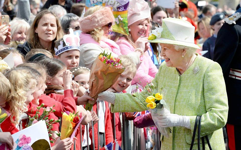 On her 90th birthday, the Queen greeted well-wishers in Windsor - Reuters