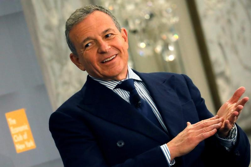 FILE PHOTO: Robert Iger, Chairman and CEO at The Walt Disney Company speaks to the Economic Club of New York