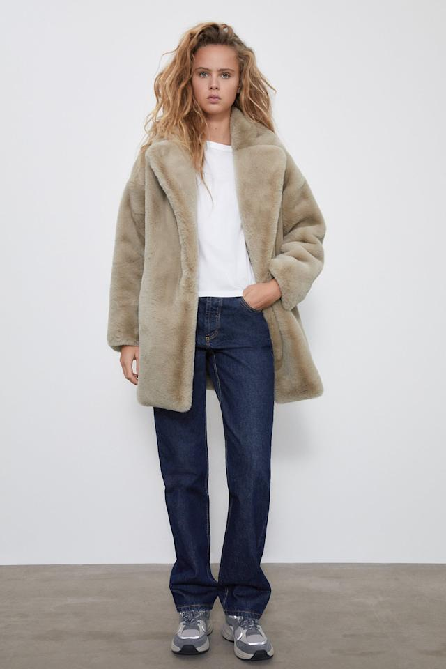 18 Jackets And Coats From Zara That, Zara Faux Fur Coat With Hood
